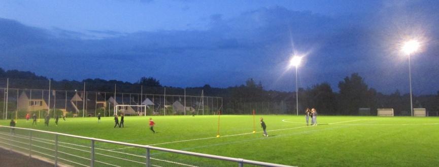 Une pelouse synthétique au stade